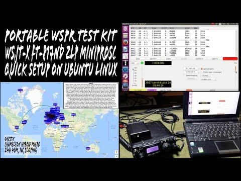 WSJT-X MiniProSC FT-817ND Quick Setup Guide on Ubuntu Linux Portable WSPR Test Kit EP05