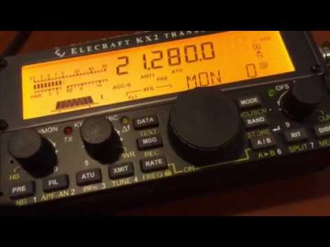 Brand new Elecraft KX-2 n the 2016 All Asia DX Contest