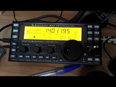 Elecraft KX3 CW contact with EW6F with 0,1 w - 100 mW - QRP - IW2NOY