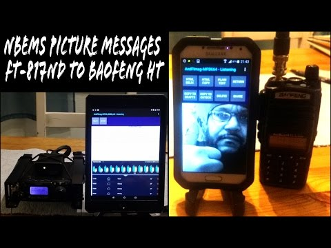 RX/TX NBEMS Picture Messages on Android  AndFlMsg & FT-817ND  EP03 Ham Radio EMCOMM