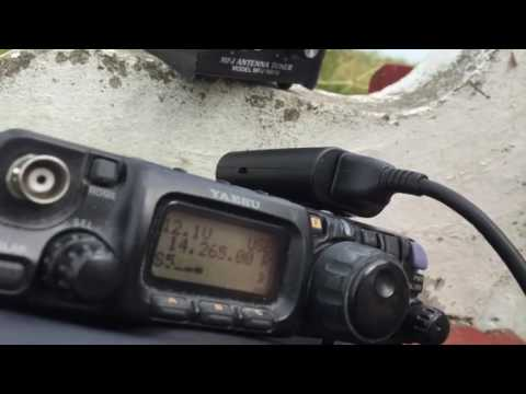 QRP Portable 20m HF contacts by the water   Yaesu FT 817