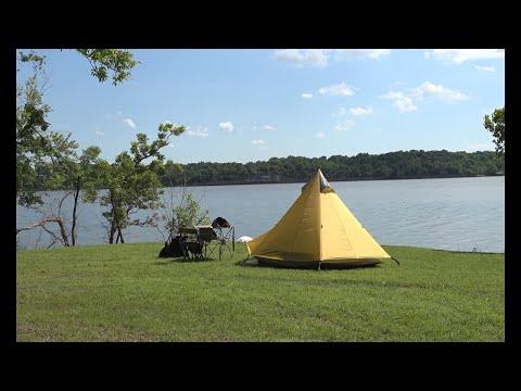 Lake Camp / Fishing & QRP Ham Radio | VIDEO 1 OF 2 | Shangri-la 3 Tent
