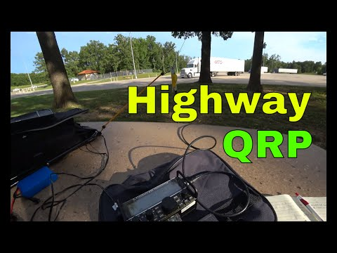 Stealth Public QRP Radio Ops | Rest Area Contact | KX2 Packtenna & Tree Throw Line
