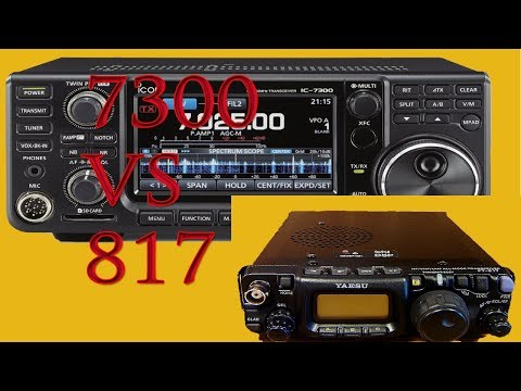 ICOM IC 7300 vs Yaesu FT 817 ND