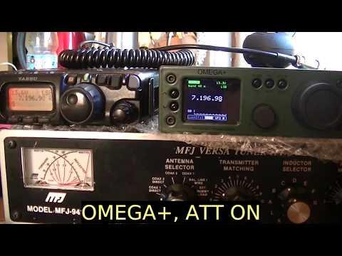 Home made Omega+ transceiver vs Yaesu FT817ND