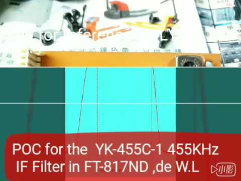 YK-455C-1 455KHz IF Filter POC  in FT-817ND