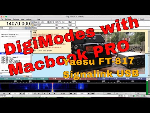 Macbook PRO and Signalink USB with Yaesu FT-817 Digital modes